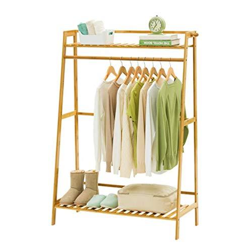 Zcyg - Perchero para Ropa, Perchero para Ropa, Estante para Ropa, para casa, Oficina, Dormitorio, Pasillo, bambú, bambú, 100 cm