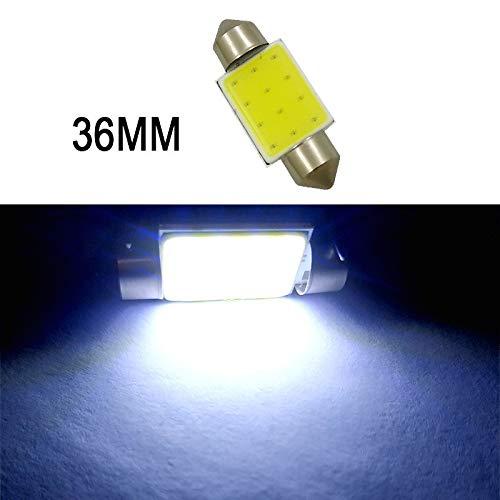 GSDGBDFE 1 UNID C5W C10W COB FESTON 31MM 36mm 39mm 41mm 12V Bulbos Blancos para Coches Placa de Licencia Interior Light Light 6500K 12SMD (Emitting Color : Festoon 36mm)