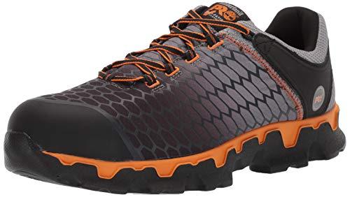 Timberland PRO Men's Powertrain Sport Alloy Toe EH Puncture Resistant Industrial Boot, Gray/Orange, 10.5 Wide