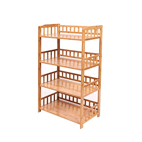 Kitchen Baker's Rack Large Kitchen Storage Rack Rack, 4-Tier Free Standing Microwave Stand/Baker's Rack, Bamboo Utility Storage Organizer Holder (Size : 70×38×114.5cm)