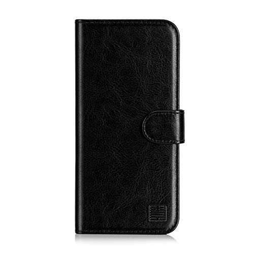 32nd PU Leder Mappen Hülle Flip Hülle Cover für Samsung Galaxy A3 (2016), Ledertasche hüllen mit Magnetverschluss & Kartensteckplatz - Schwarz