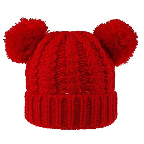 1-8 Alter Kinder Strickmütze Unisex Warm halten Winter Casual Saum Mütze Ski Hut CICIYONER