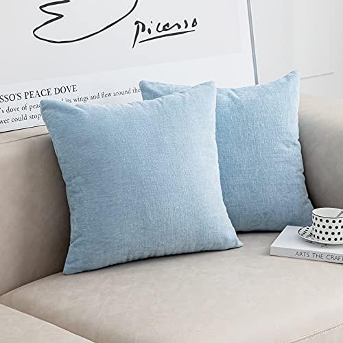 light blue couch pillows - 6