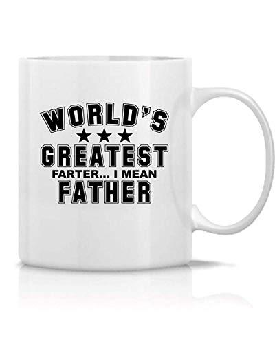 Zabawny kubek The Biggest Crook in The World Wants to Say prezent dla ojca dla śmiesznego ojca humor i biały ceramiczny kubek do kawy (325 ml)