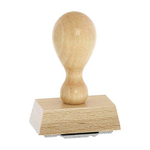 Holzstempel incl. individueller Textplatte 50x30 mm - 5 Zeilen/Firmenstempel, Adressstempel, Personalisierter Stempel, Buchstaben, Kinderstempel, Adressstempel/von stempel-fabrik