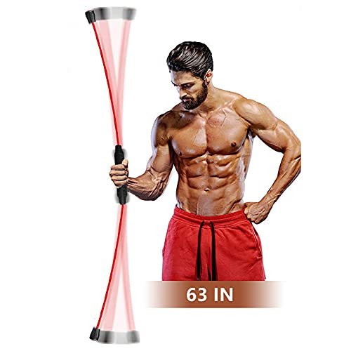 VQQ Weighted Bar, Shake Weight, Equipped with Elastic Exercise Equipment, Made of Rubber and Glass Fiber, Suitable for Muscle Exercise, Weight Loss and Fitness