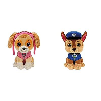 Ty Paw Patrol Skye Cane Peluches Toy 380, Multicolor, 8421412105 + Patrulla Canina Chase 15 cm (41208TY) (United Labels Ibérica por