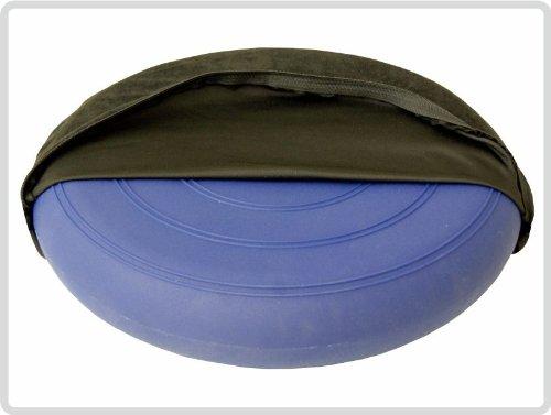 Sani-Alt Ballsitzkissen Sitzkissen Kissen Blau inkl. Pumpe und Bezug Ø 36cm,Suedine, schwarz