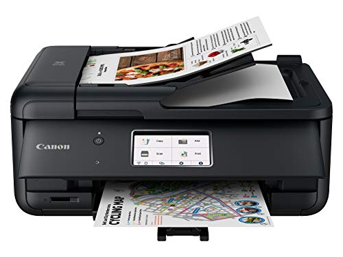 Canon TR8620 All-In-One Printer For Home Office | Copier |Scanner| Fax |Auto Document Feeder | Photo and Document Printing | Airprint (R) and Android Printing, Black