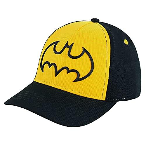 DC Comics Little Toddler Hat for Boy's Ages 2-7, Batman Kids Baseball Cap, Black, Age 4-7 Years