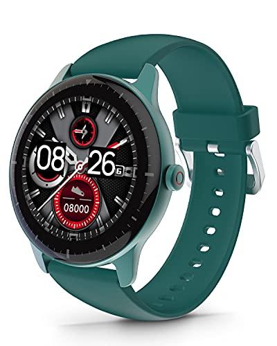 DOOGEE CR1 Smartwatch, Reloj Inteligente Impermeable IP68 para Hombre Mujer Niños con Pulsómetro, Monitor de Sueño, 1.28 Inch Reloj Deportivo 13 Modos para Android iOS, 30 Días en Espera, Verde