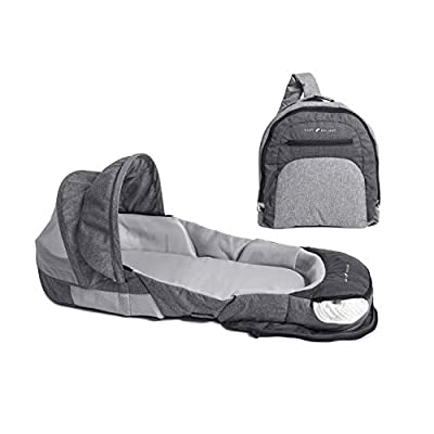 Baby Delight Snuggle Nest Adventure Portable Infant Sleeper | Travel Bed & Bassinet | Canopy and Bug Net Included