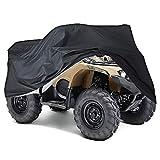NEVERLAND Talla XXXL 190T ATV Cubierta Exterior Moto Protección contra el Polvo a Prueba de Invierno, protección UV Negro