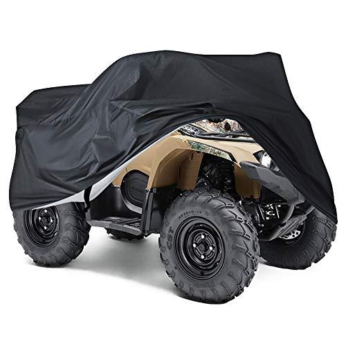 NEVERLAND XL Quad ATV Abdeckplane Fahrzeug Abdeckung Schutz Cover Winterfest Staub Regen UV-Schutz Schwarz 210 x 120 x 115 cm