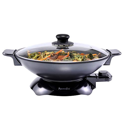 Continental Electric PS-SK319 Chef Electric Wok, 4.5 Quart, Black