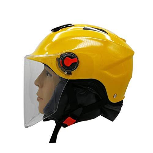 Lsmaa Motorhelm, elektrische helm, winterhelm, op batterijen werkende halve helm, zwart