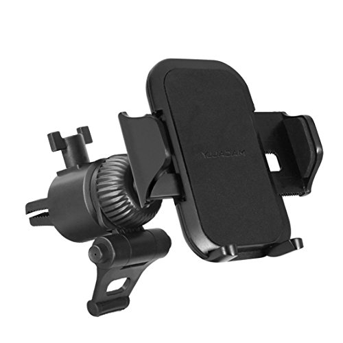 Macally Universal Car Air Vent Phone Holder Mount with Super Strong AC Clip for Apple iPhone Xs XS Max XR X 8 8 Plus 7 7+ SE 6s 6 Samsung Galaxy S9 S9+ S8 LG Nexus Sony Nokia Moto Mobile Cell Phones