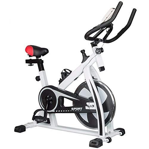 YSXD Bicicleta de Ejercicio doméstica Bicicleta de Spinning Ciclismo de Interior Bicicletas Máquina de Gimnasia Equipo de Gimnasio en casa Deporte Bicicleta Fitness Pedal Bike White
