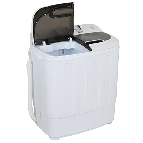 ZENY Portable Compact Mini Twin Tub Washing Machine 13lbs Capacity with Spin Dryer