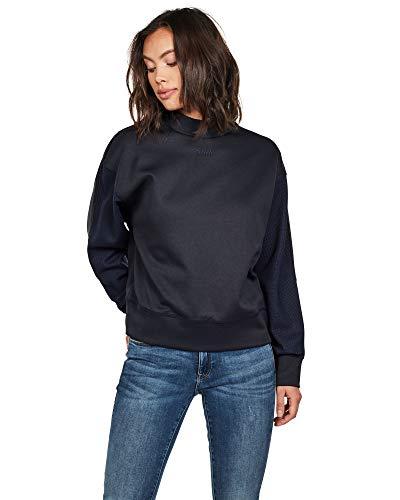 G-STAR RAW Damen Sweatshirt Pleat Loose Collar, Blau (Mazarine Blue 4213), Small