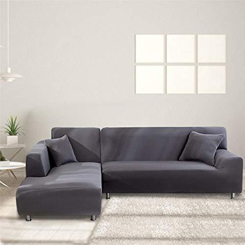 presentimer Funda de sofá en forma de L elástica, funda de sofá elástica, funda de sofá antideslizante, elegante poliéster para decoración del hogar, muebles de amabilidad