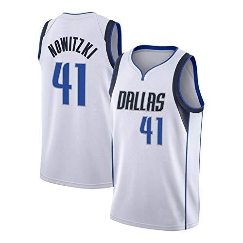 DDOYY Nowitzki #41 Mavericks Basketball Weste Basketball Trikot Indoor Outdoor Sport Fitness Lose Atmungsaktiv Bequem Trainingskleidung XL