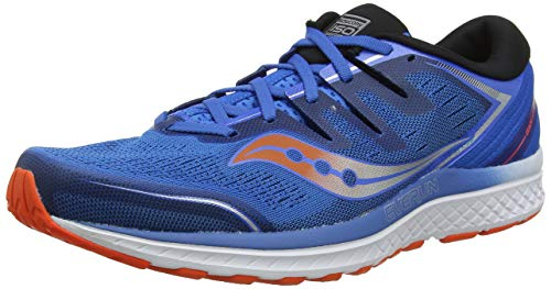 Saucony Guide ISO 2, Zapatillas de Running para Hombre, Naranja (Blue/Orange 36), 44 EU