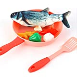 FXCO Wagging Fishes Electric Wagging Fish Spielhaus-Set Interaktive Haustiere Chew Bite Fish...