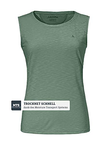 Schöffel Damen Top Namur2 Shirt, agave green, 38