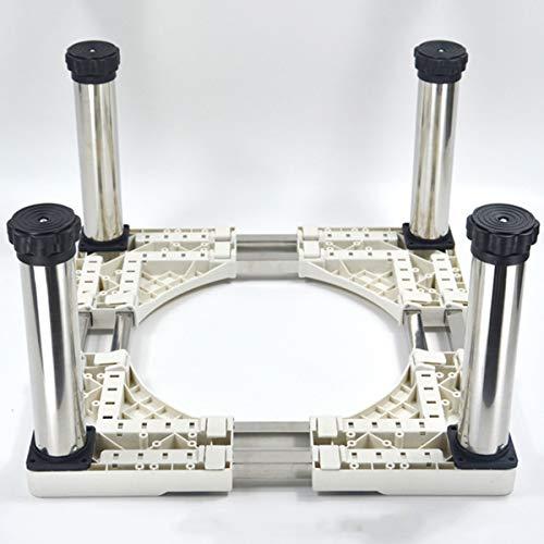 Mfnyp Machine à Laver Socle, Socle en Acier Inoxydable résistant à l'humidité avec 4-12 Pieds de Support réglables pour sèche-Linge, Lave-Linge et Un réfrigérateur (Hauteur: 28 à 32 cm),A