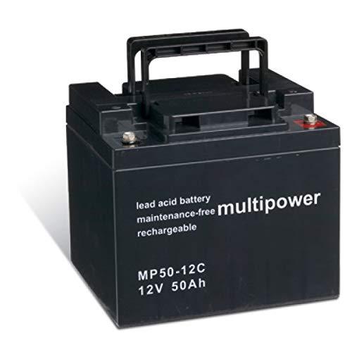 Powery Batería Plomo-ácido (multipower) para Silla de Ruedas Eléctrica Quickie Tango cíclica ✅