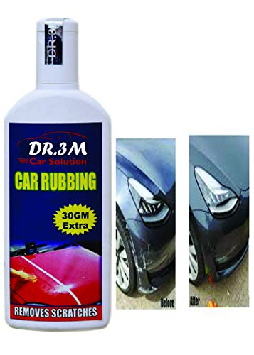 DR3M Car & Bike Scratch Remover Advanced Formula Rubbing Compound,use All Colours (Not for Dent & Deep Scratches)- 100gms+30gm Extra.