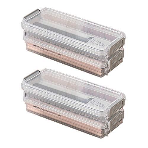 Cajas de Lápices de Plástico con Tapa, Cajas de Almacenamiento de Plástico, Transparente Caja de Lápices de Plástico, Multifuncional, para Escritorio, Oficina, Pincel, Objetos Pequeños