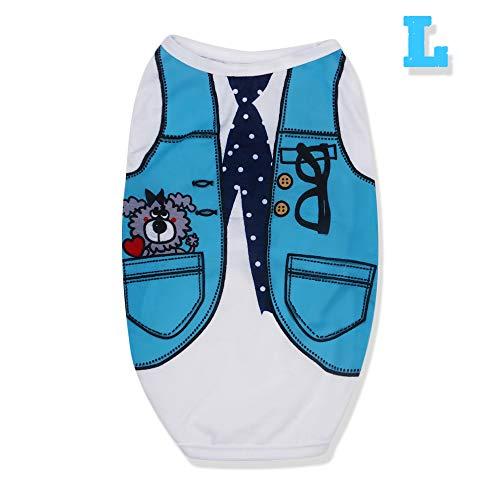 rooteroy shihao159 schattig katoen Jumpsuit Puppy Shirt hond bruiloft pak huisdier zomer kleding kat casual vest pyjama, Necktie L