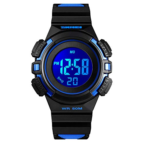 CakCity Kids Watches Digital Outdoor Sport Waterproof Electrical EL-Lights Watches with Alarm Luminous Stopwatch Casual Military Child Wrist Watch Gift for Boys Girls Ages 5-10