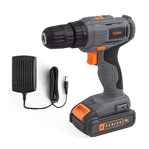 VonHaus E-Series Cordless Drill Driver – 18V Electric Drill with Variable Speed Trigger – Handheld DIY Tool for Drilling, Tightening & Loosening - Battery and Charger Included
