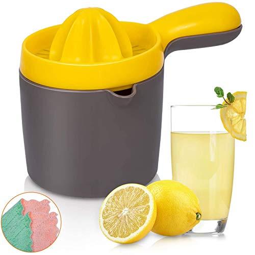 YFGQBCP Exprimidor de cítricos con Escariador de contenedores, Naranja Lima limón exprimidor de Jugo de Pomelo, Antideslizante Manual Juicer de la Fruta Prensa de la Mano Juguera