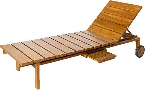Modern Solid Wood Wicklow Reclining Sun Lounger