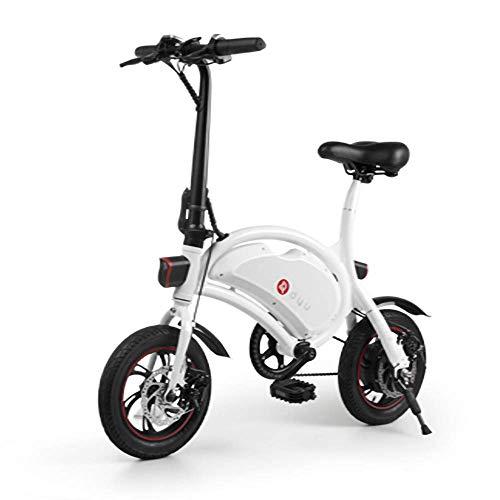 Dpliu-HW Bici Elettriche Bici elettrica 12 Pollici Pieghevole Ultra Leggero Strumento Digitale Multifunzione Portatile Mini Adulto Genitore-Bambino Scooter Elettrico al Litio (Color : A)