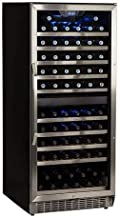 EdgeStar CWR1101DZ 110 Bottle Built-In Dual Zone Wine Cooler - Stainless Steel and Black