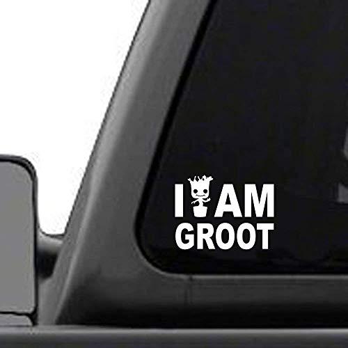 I AM Groot Silhouette Aufkleber Vinyl Aufkleber für Auto LKW Stoßstange Laptop Tablet Werkzeugkasten Helm Wand Skateboard Snowboard Motorrad Fahrrad Flaschen Tür Fenster Schließfach Glas Spiegel Möbel