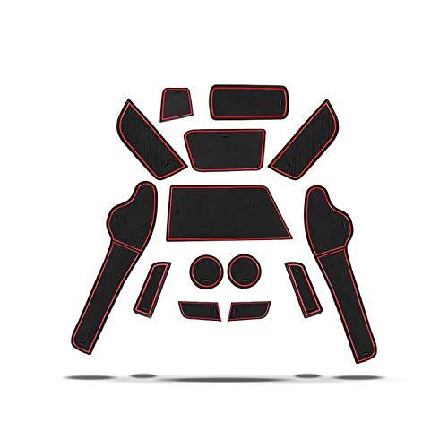 CDEFG für Opel Crossland X SUV Gummimatten Auto Innere Türschlitz rutschfest Anti-Staub Becherhalter Gummi Matten Arm Box Aufbewahrung Pads Innenraum Zubehör