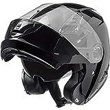 Nexo Klapphelm Motorradhelm Helm Motorrad Mopedhelm Basic II, Thermoplasthelm mit Sonnenblende,...