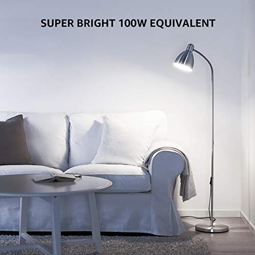 LE 100W Equivalent LED Light Bulbs, 15W 1500 Lumens 5000K Daylight White Non-Dimmable, A19 E26 Standard Base, UL/FCC Listed, 11000 Hour Lifetime, Pack of 6