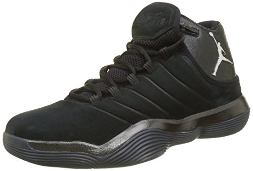 Nike Herren Jordan Super.Fly 2017 Basketballschuhe, Schwarz (Black/Chrome-Anthracite), 42.5 EU