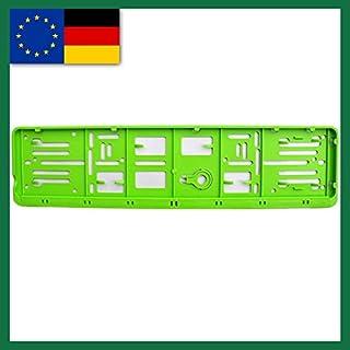 Farbe EU NORM 110X520 Deutschland 1 Set, und alle Normländer W Kennzeichenrahmen, für 1 KFZ. grün