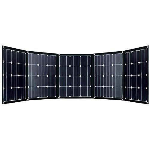 Offgridtec© FSP-2 200W Faltbares Solarmodul mit Sunpower Back-Contact Zellen ohne Laderegler mit praktischem Tragegriff und Stauraum für Kabel. Für Camping, Reise, Boot Caravan