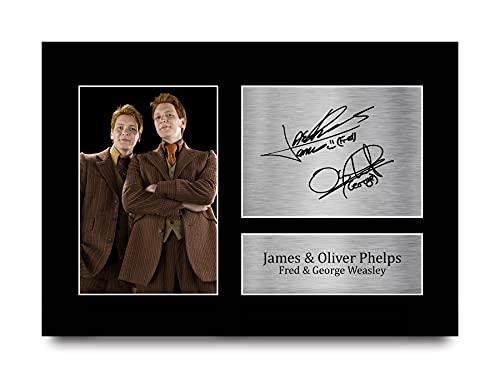 HWC Trading A4 James & Oliver Phelps Harry Potter Fred & George Weasley Geschenke gedrucktes Autogramm Bild für Film-Fans