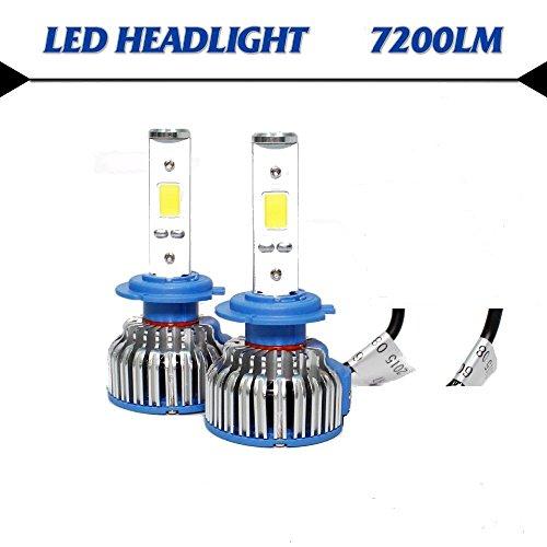 REGINASHOP H4 Oppure H7 LAMPADE LED con Ventola Raffreddamento LAMPADINE per Auto Camion A LED CREE Full LED 7200 Lumen 6000K 30W LED Driver Luce Bianca (H7)