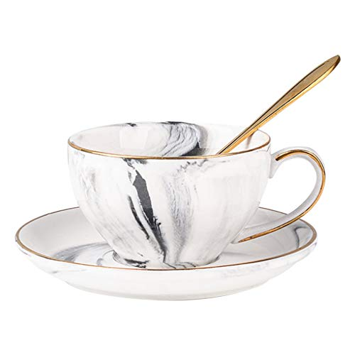 Tazas Taza De Café Taza de café de cerámica de la Tarde de la Taza de té de cerámica de la Tetera de Cristal Inglesa del Estilo Taza de café Creativa Taza de café (Color : B)